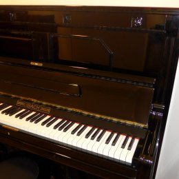 Ibach Salon Pianino B 132 von 1911 in Zwart glimmend